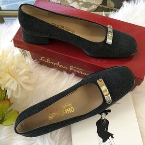 Salvatore Ferragamo Agnese Loafer Style Shoes.